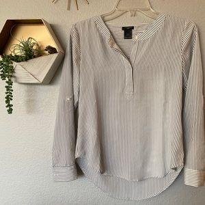 Ann Taylor stripe dress shirt